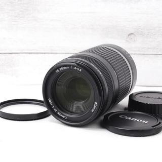 キヤノン(Canon)の❤️プロテクター付き❤️手振れ補正❤️Canon 55-250mm IS(レンズ(ズーム))