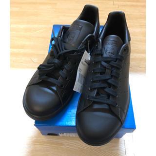 アディダス(adidas)のadidas コアブラック☆スタンスミス ブラック 23.5cm 黒 レディース(スニーカー)