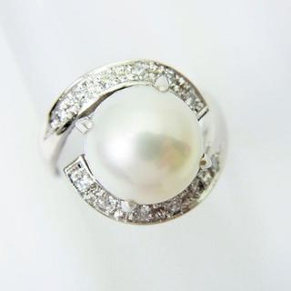 Pm900 アコヤ真珠ダイヤモンド リング 9号[f439-1](リング(指輪))