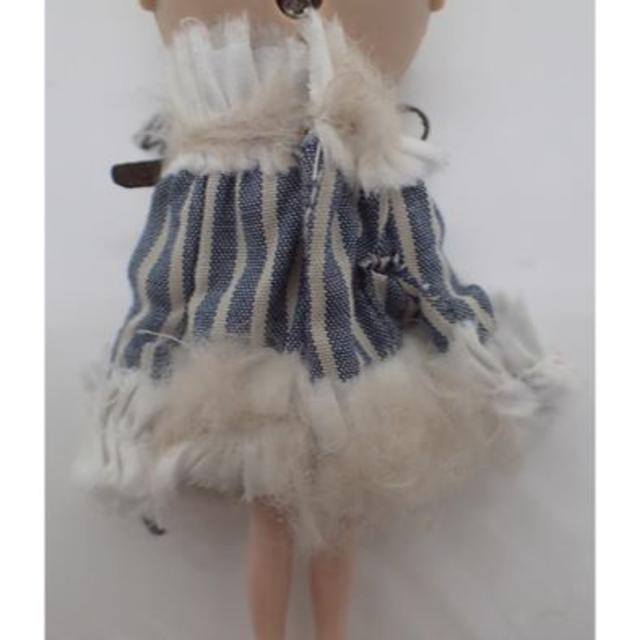 プチブライス 萌え袖ストライプワンピース 作家様  ハンドメイドのぬいぐるみ/人形(人形)の商品写真