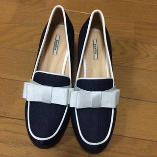 ランダ(RANDA)のRANDA  リボンデニムローファー(ローファー/革靴)