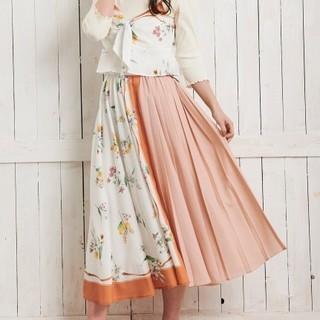 フラワースカーフ柄スカート Noela