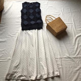 【vintage】ROPE⭐️水玉ロングスカート