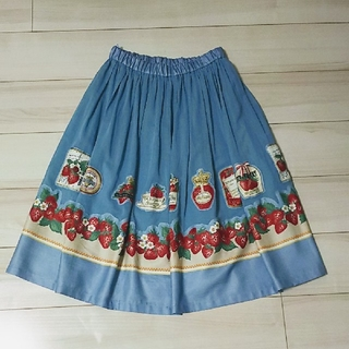 JaneMarple - ジェーンマープル Strawberry label scarfのスカート