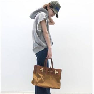 アパルトモンドゥーズィエムクラス(L'Appartement DEUXIEME CLASSE)のタグ付き新品♡SITA PARANTICAキャンバス×レザーTOTE BAG L(トートバッグ)