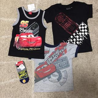 シマムラ(しまむら)のカーズ 半袖Tシャツ&靴下 セット 110 新品(Tシャツ/カットソー)