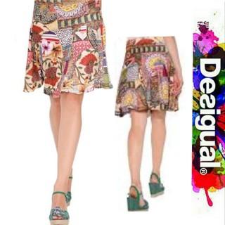 デシグアル(DESIGUAL)のDesigual ストレッチレース オリエンタル総柄 スカート(ひざ丈スカート)