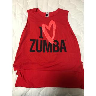 ズンバ(Zumba)の完売品 Zumba ウェア  新品 未使用 ハート 赤 ロゴ入り 特価♡(トレーニング用品)