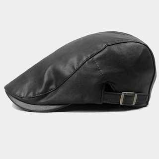 ブラック ハンチング帽 帽子 ベレー帽 キャスケット 55-60cm 男女兼用(ハンチング/ベレー帽)