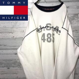 トミーヒルフィガー(TOMMY HILFIGER)の【激レア】トミー ジーンズ☆ビッグロゴ ビッグシルエット スウェット トレーナー(スウェット)