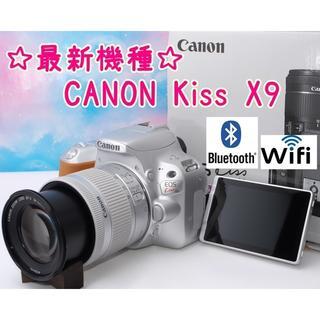 キヤノン(Canon)の【極上美品】最新機種登場!スマホに簡単転送♪Kiss X9シルバー☆(デジタル一眼)