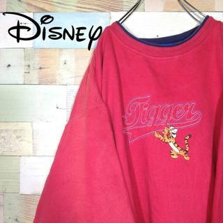 ディズニー(Disney)の【激レア】90s ディズニー プーさん☆ティガー ビッグロゴ刺繍 スウェット(スウェット)