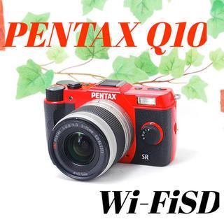 ペンタックス(PENTAX)の❤️希少レッドカラー❤️スマホ転送❤️PENTAX Q10(ミラーレス一眼)