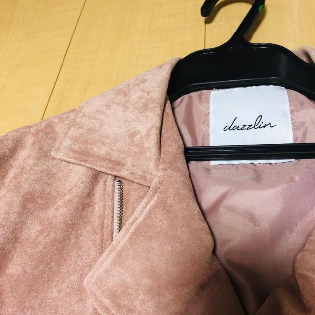 dazzlin(ダズリン)のdazzlin ピンク ライダース レディースのジャケット/アウター(ライダースジャケット)の商品写真