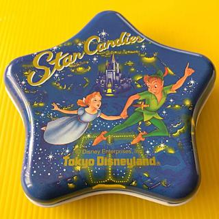 ディズニー(Disney)のレトロ ディズニー キャンディ缶 空き缶 ピーターパン シンデレラ城 星 お星様(小物入れ)