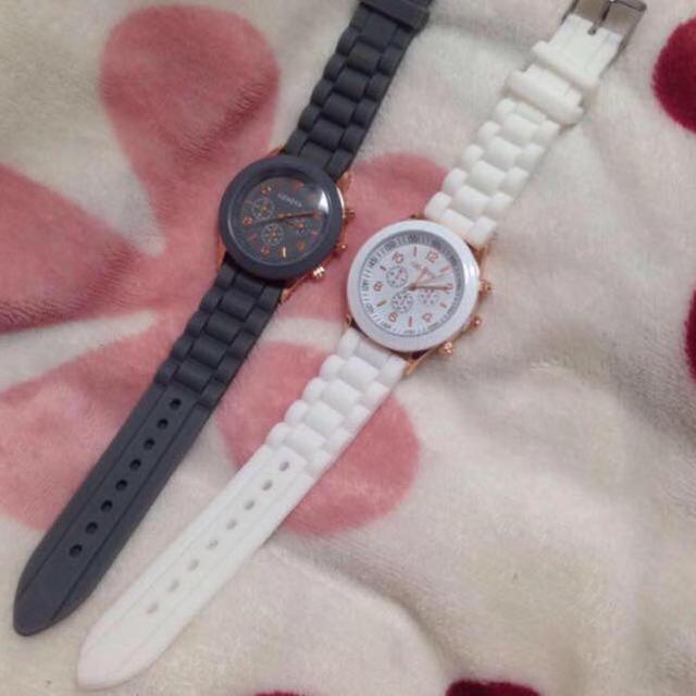 腕時計❤️白 レディースのファッション小物(腕時計)の商品写真