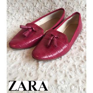 ザラ(ZARA)のZARA ザラ タッセルローファー クロコ(ローファー/革靴)