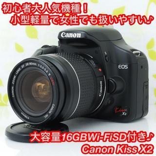 Canon - ★大人気!小型軽量・操作性も抜群♪スマホ転送OK☆キャノン Kiss X2★