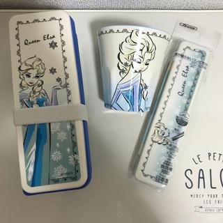 ディズニー(Disney)の新品 エルサ お弁当箱&メラミンカップセット(弁当用品)