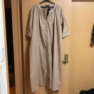シマムラ(しまむら)の襟なしシャツワンピース(ロングワンピース/マキシワンピース)