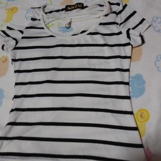 アンズ(ANZU)のボーダー トップス(Tシャツ(半袖/袖なし))