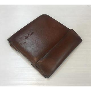 アブラサス◆薄い財布 ブッテーロレザー キャメル(折り財布)