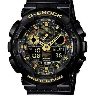ジーショック(G-SHOCK)のカシオ Gショック GA100CF1A9JF 迷彩カモフラージュ(腕時計(デジタル))