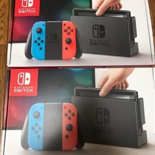 ニンテンドウ(任天堂)の新品 未使用 Nintendo Switch 本体 2台セット(家庭用ゲーム本体)