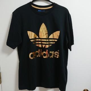アディダス(adidas)の■新品未使用■adidas originals Tシャツ ブラック×ゴールド(Tシャツ/カットソー(半袖/袖なし))