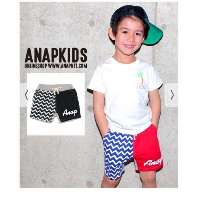 ANAP Kids(アナップキッズ)のANAP  ハーフパンツ キッズ/ベビー/マタニティのキッズ服 男の子用(90cm~)(パンツ/スパッツ)の商品写真