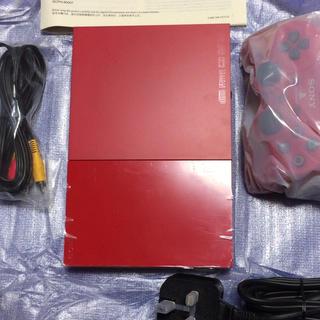 プレイステーション2(PlayStation2)の本体プレイステーション2 PS2海外版レッド SCPH-90006CR(家庭用ゲーム本体)