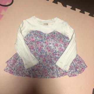 プティマイン(petit main)のプティマイン 花柄 ビスチェ風 チュニック(Tシャツ/カットソー)