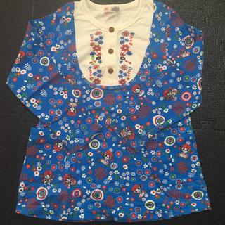 シマムラ(しまむら)のお花と女の子柄のチェニック(Tシャツ/カットソー)