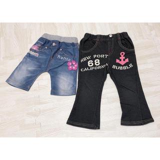 ニシマツヤ(西松屋)の男女兼用 パンツ 90cm 2点(パンツ/スパッツ)