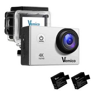 【激アツ!】1600万画素 4kアクションカメラ【シルバー】(ビデオカメラ)