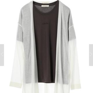 ショコラフィネローブ(chocol raffine robe)のchocol raffine robe ロゴT+ニットカーデ(カーディガン)