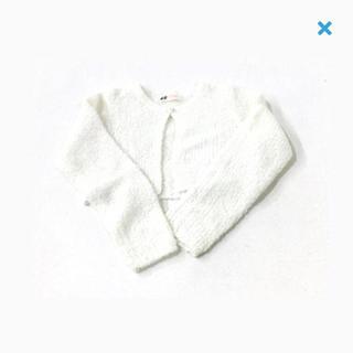 エイチアンドエム(H&M)のH&M☆used☆110/116☆オーロラきらきらラメカーディガン(カーディガン)