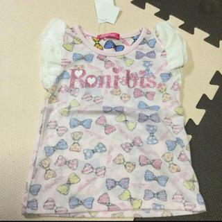 ロニィ(RONI)のロニ 袖フリル リボン トップス(Tシャツ/カットソー)