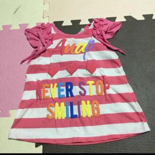 アナップキッズ(ANAP Kids)のアナップキッズ ボーダー チュニック(Tシャツ/カットソー)
