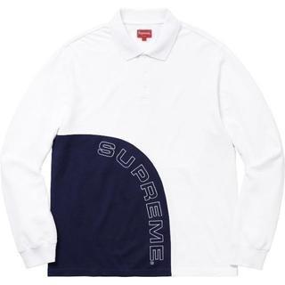 シュプリーム(Supreme)のSupreme Corner Arc L/S Polo 白 S(ポロシャツ)