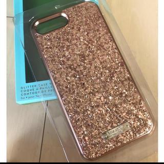 kate spade new york - iPhone7/8 ローズゴールド きらきら ハードケース ケイトスペード
