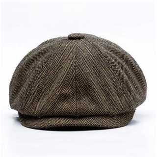 ハット 60cm 帽子 ダークブラウン ホック付き キャスケット ハンチング(ハンチング/ベレー帽)