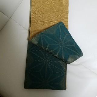 撫松庵 半幅帯 麻の葉 浴衣(浴衣)