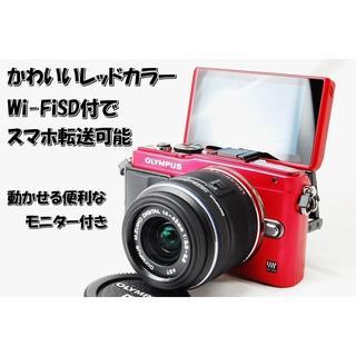 ☆人気の可愛いミラーレス☆Wi-FiSD付でスマホ転送☆オリンパス E-PL6(ミラーレス一眼)