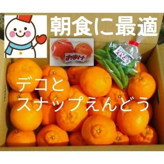 ⑤朝食に最適♥️デコちゃん♥️スナップえんどう♥️晩柑橘(フルーツ)