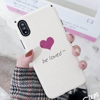 iPhone7 iPhone8 〔ホワイト〕 ハート 英字 シンプル ケース