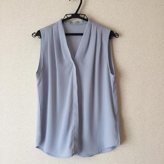 dholic - ディーホリック Vネック ノースリーブシャツ 水色