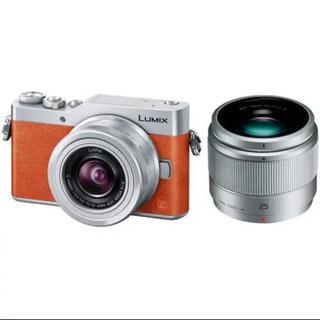パナソニック(Panasonic)のパナソニック LUMIX DC-GF9W-D ダブルレンズキット オレンジ(ミラーレス一眼)