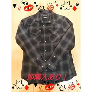 ジャックローズ(JACKROSE)の期間限定SALE!!JACKLOSE  黒チェックシャツ(シャツ)