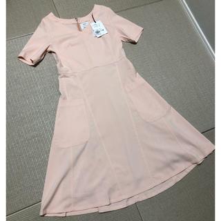 PLST - 新品タグ付き プラステ ストレッチフレアポケット半袖ワンピース ピンク2サイズ